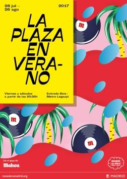 Cartel La Plaza en Verano 2017